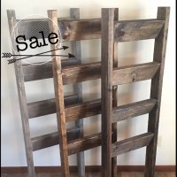 Blanket ladder Rustic wooden farmhouse quilt ladder 5'
