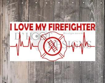 Download Firefighter love svg   Etsy