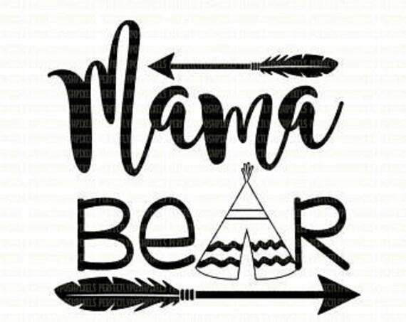 mama bear .svg file cricut
