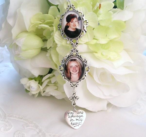 Bridal Bouquet Charm 2 Charms Bride Double