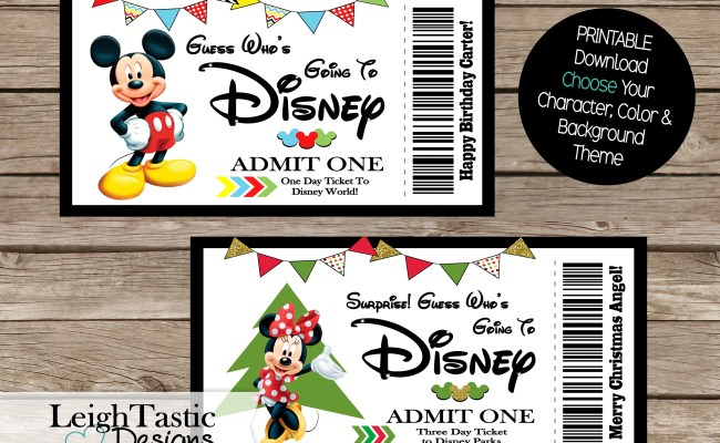 Print At Home Birthday Surprise Ticket Christmas Surprise