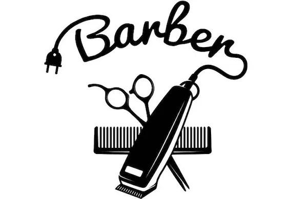 La peluquería Logo 4 salón tienda corte pelo corte a novio