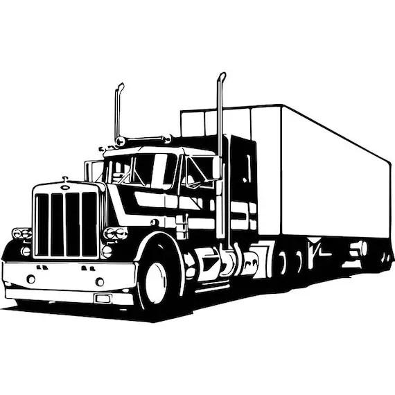 Truck Driver 18 Trucker Big Rigg 18 Wheeler Semi Tractor