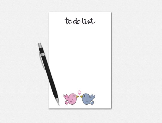 Wedding To Do List Notepad