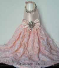 Dog Harness Dress Dog Wedding Dress Fancy Dog Dress