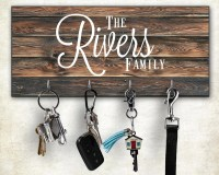 Wall Key Rack Personalized Key Hanger Wall Mount Key Hanger