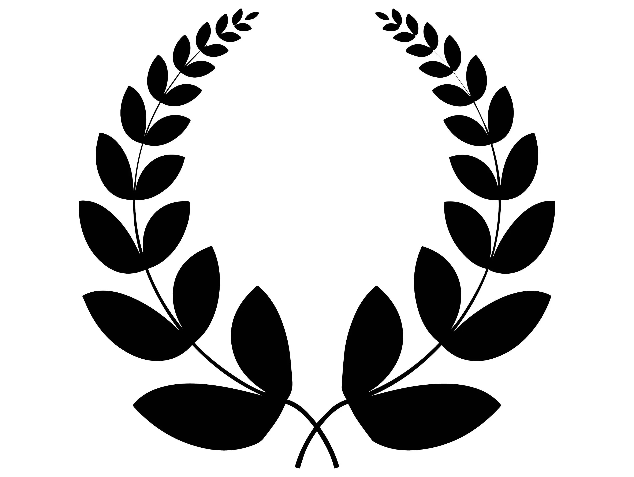 Laurel Wreath Award Branch Winner Champion Trophy Triumph