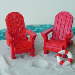 Miniature Adirondack Chairs Chair Cover Rentals In Virginia Beach Fairy Garden Supply Red