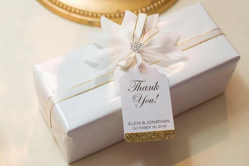 Wedding Favor Tags Glitter Thank You Tag Formal Gift Tags