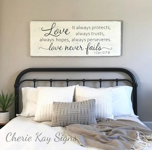 Master Bedroom Wall Decor Love Fails 1 Corinthians
