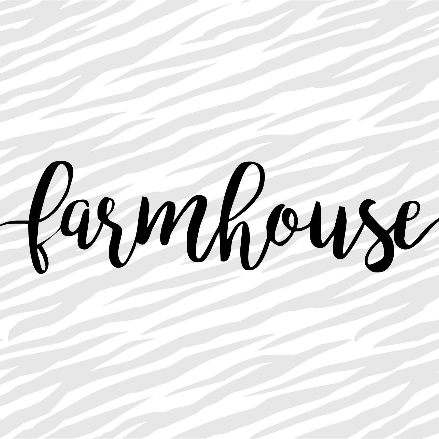Farmhouse Script Vinyl Stencil for Wood Crafts