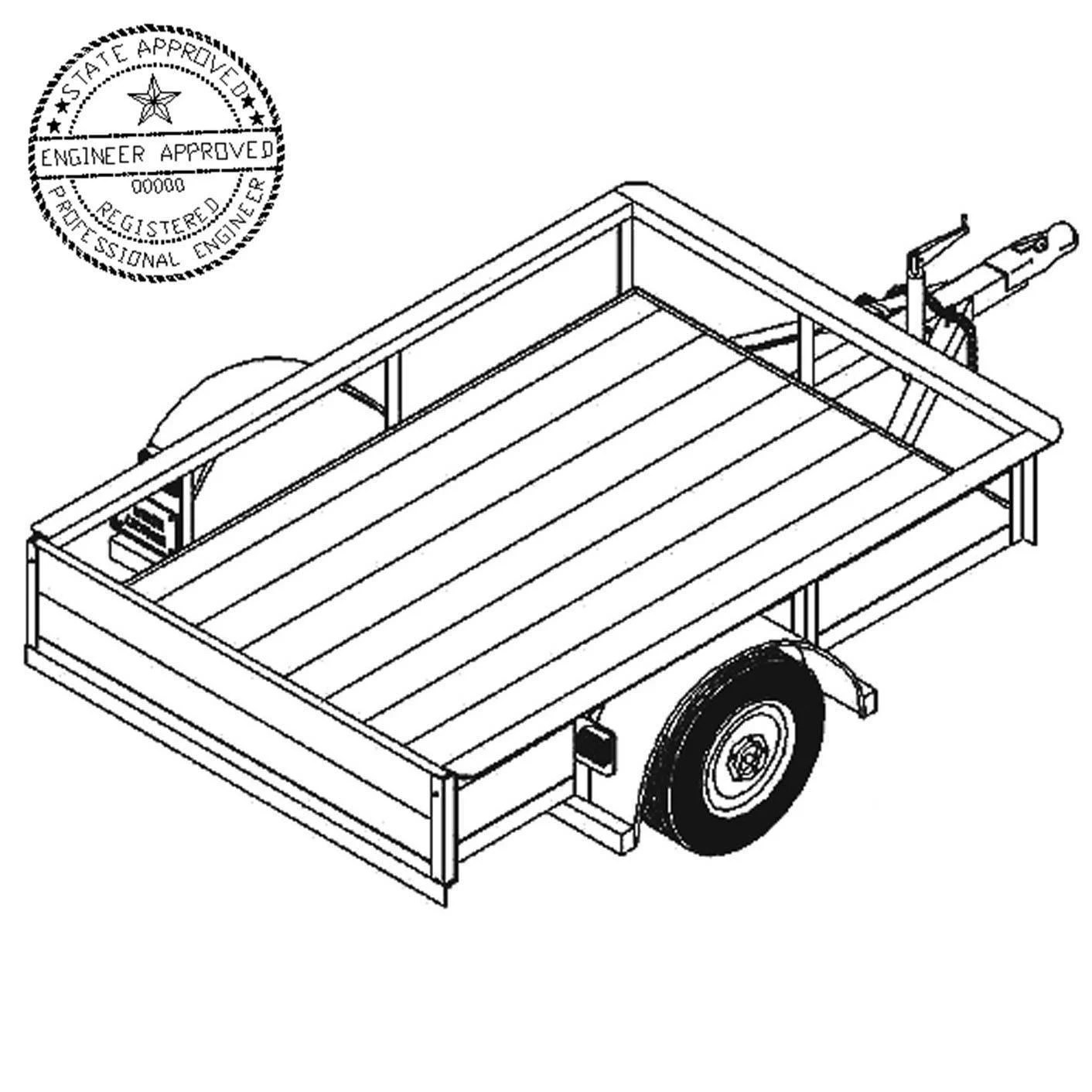 42 x 6 Utility Trailer Plans Blueprints 2000 lb Capacity
