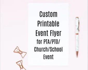 Custom Printable Carnival Flyer for PTA PTO Church and other