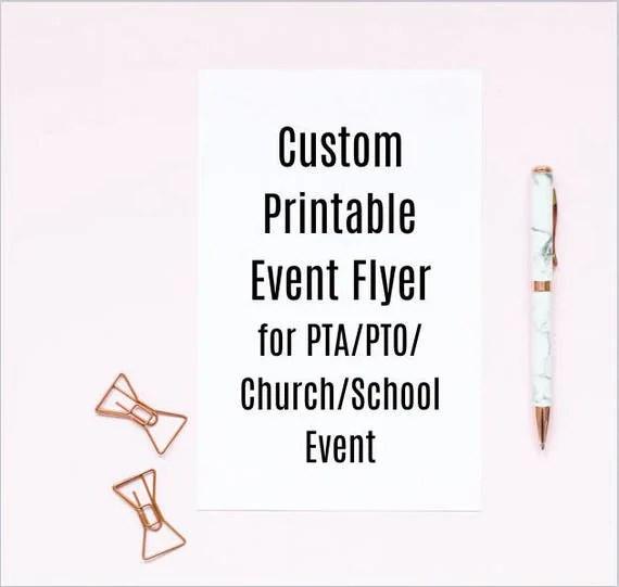 Custom Printable Event Flyer