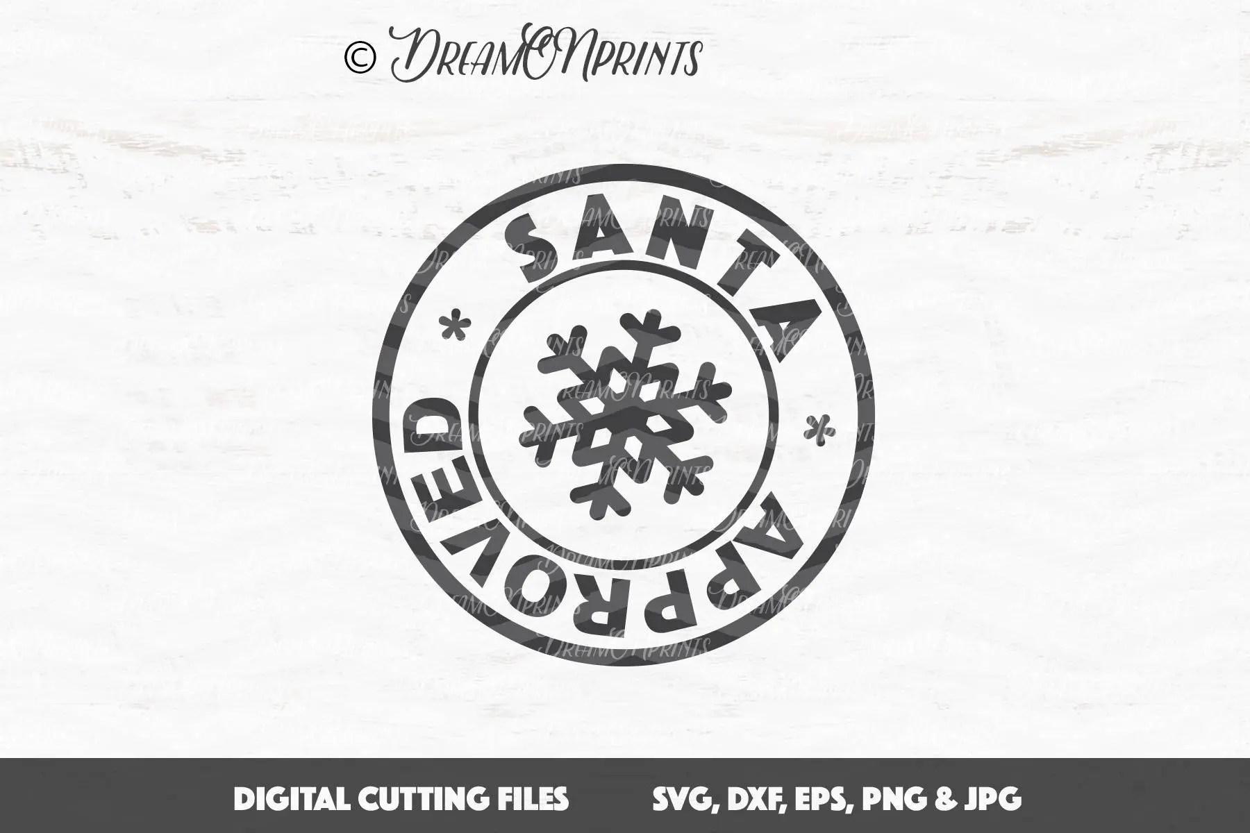 Christmas Stamp SVG Santa Approved SVG Santa Stamps svg