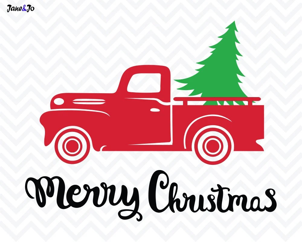 Christmas Tree SVG FileChristmas truck svgChristmas svg
