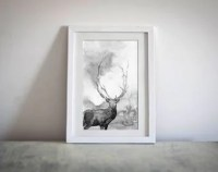 Deer painting | Etsy
