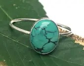 Turquoise Ring, Genuine T...