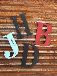 Metal Initials For Outside | Wall Plate Design Ideas