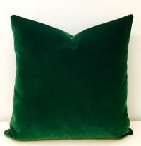 Dark Green Velvet Pillow Green Pillows Velvet Pillow Cover