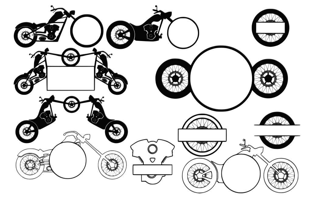 Motorcycle svg Motorcycle monogram svg Decal svg files