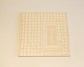 Portuguese window in a contemporary tile design, decorative tile with a typical Portuguese building covered with tiles! READY TO SHIP