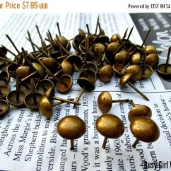 Tattooing Chairs For Sale Oxo Sprout High Chair Replacement Cushion Holiday 30% Off 50 Upholstery Tacks Nails With French Natural Antique Brass Finish- 5/8 ...