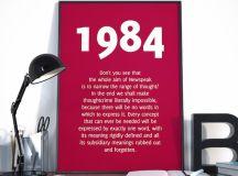 1984 Quote Newspeak quote George Orwell Quote 1984 Print