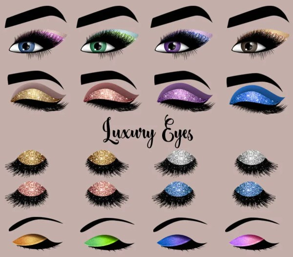 luxury eyes clipart princess makeup