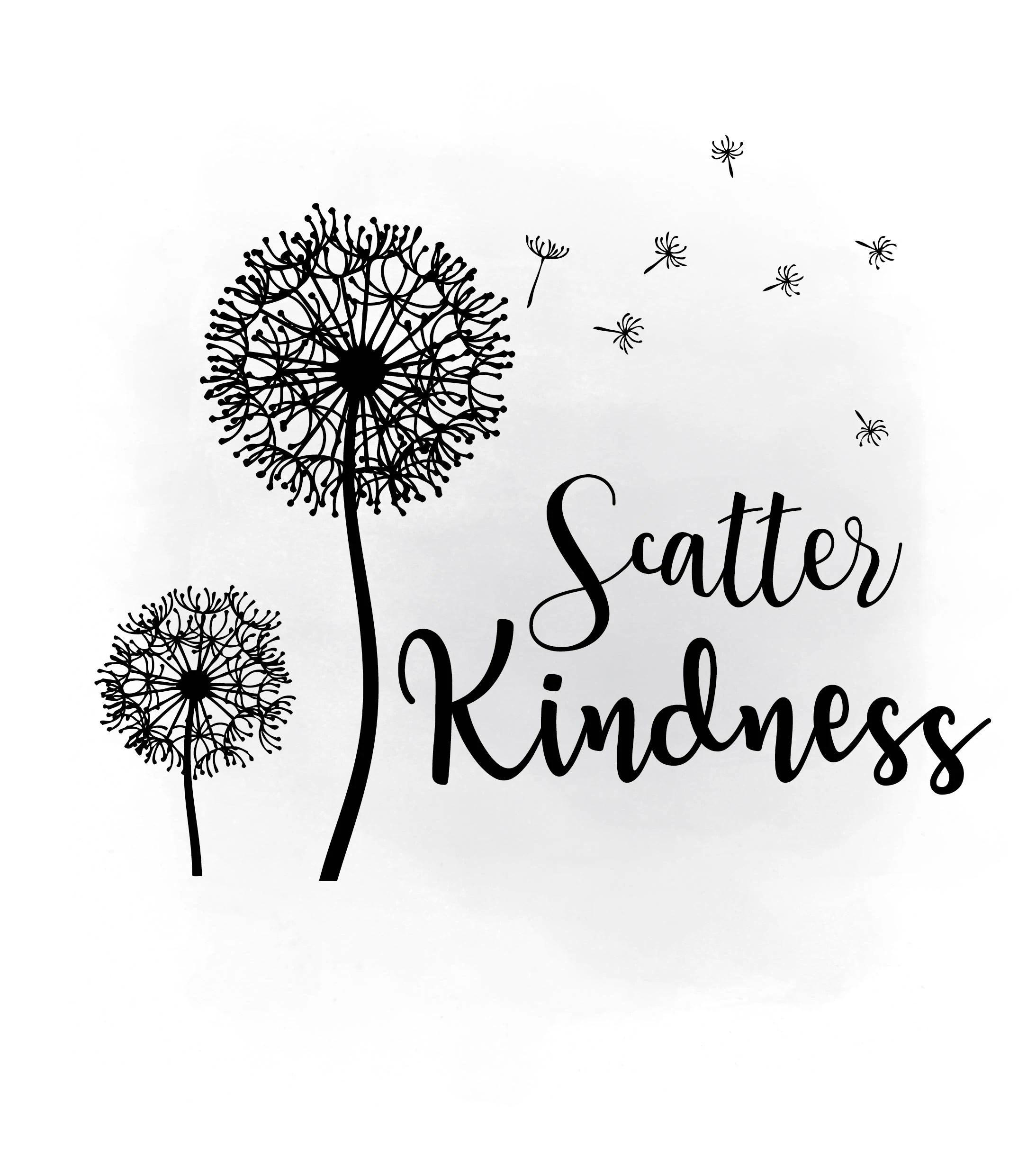 Scatter Kindness Dandelion Wish Svg Clipart Inspirational