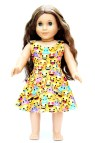 Fits American Girl Doll Clothes Emoji Skater Dress