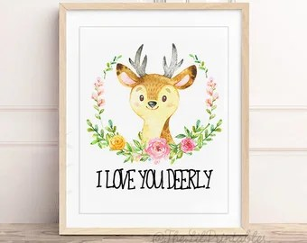 Download Love you deerly | Etsy