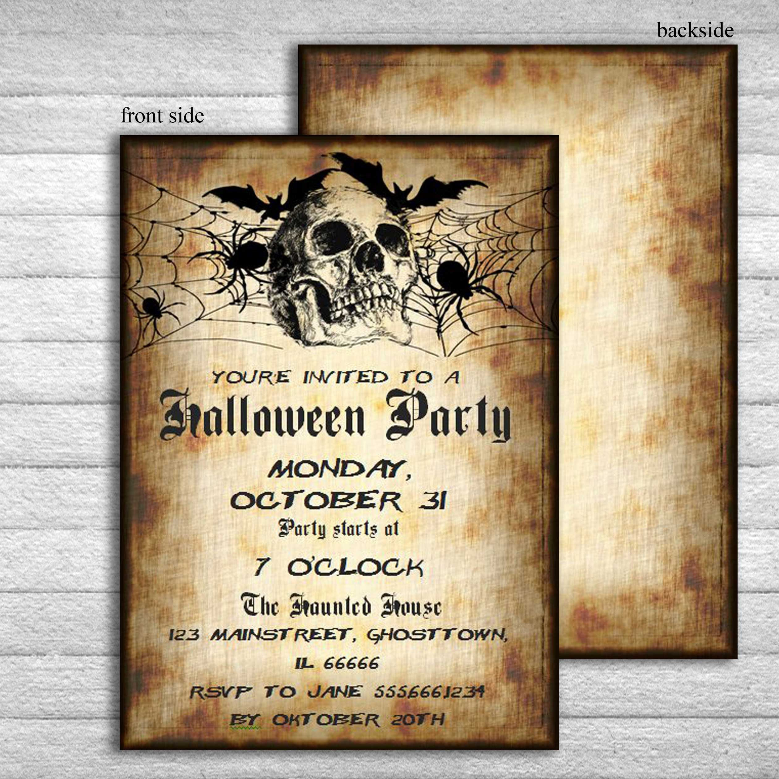 Halloween Invitation Adult Invitations Printable Adult