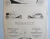 Vintage Renault print, ad...