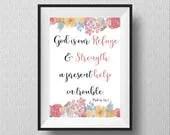 Psalm 46:1 Printable Art,...