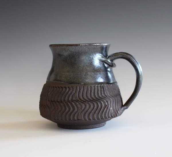Stoneware Pottery Mug 18 Oz Coffee Handthrown Ceramic