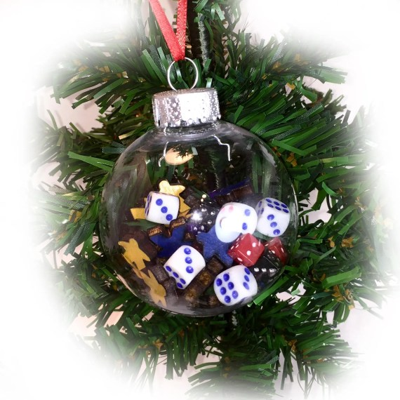 Dice and Meeple Ornament