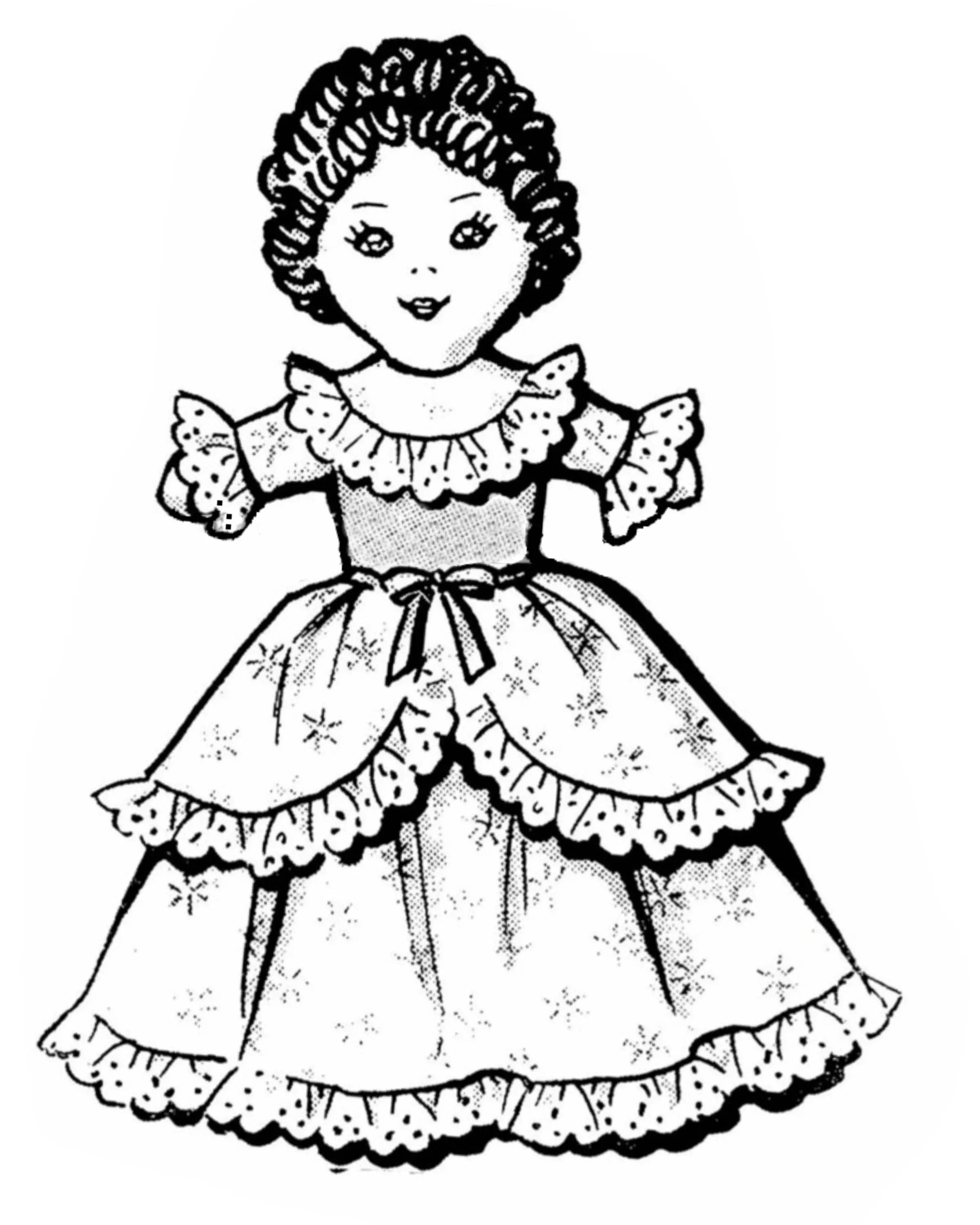 Cinderella Topsy Turvy Doll Pattern or Upside Down Cloth