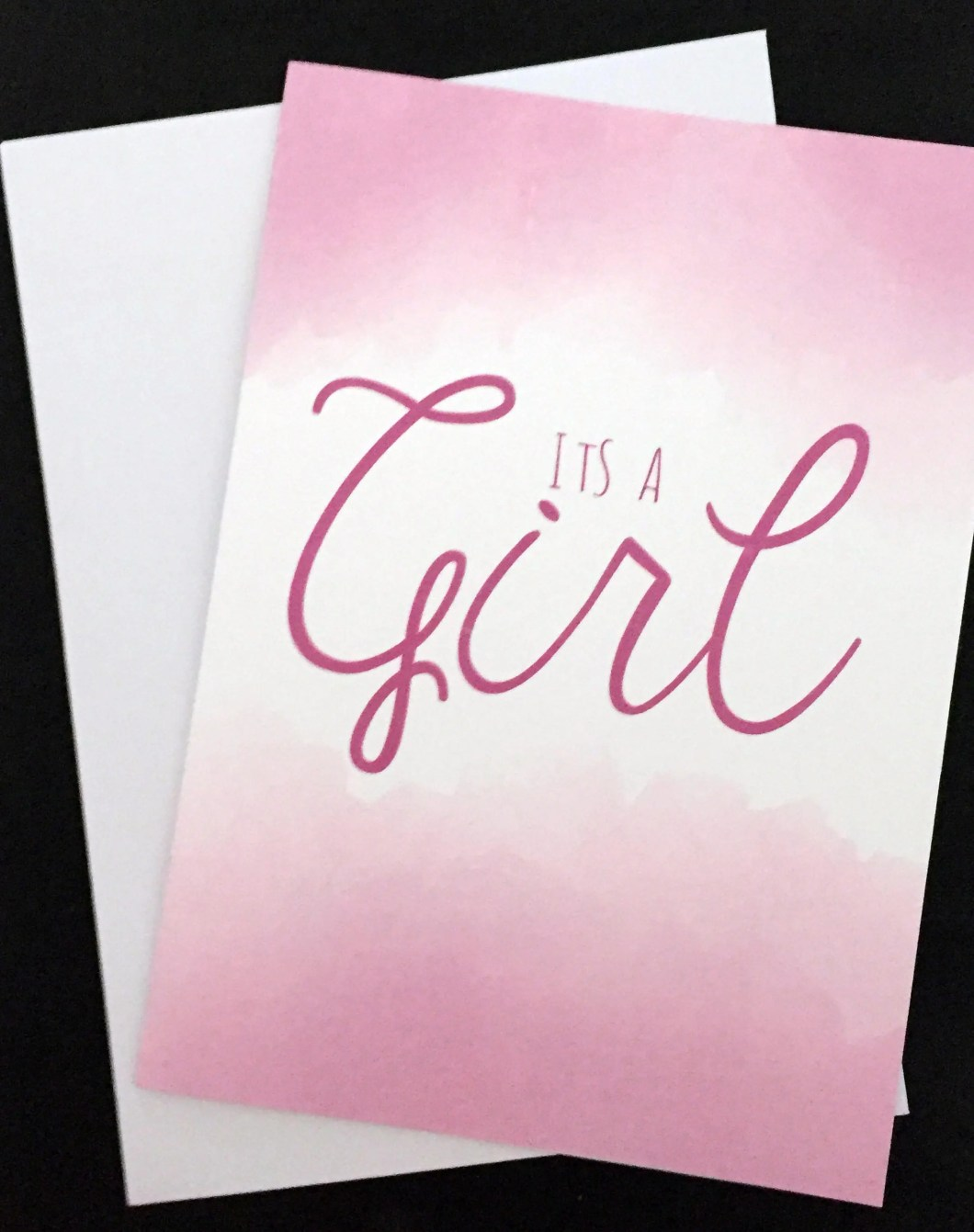 Its a Girl card, typograp...