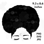 svg file afro hair natural