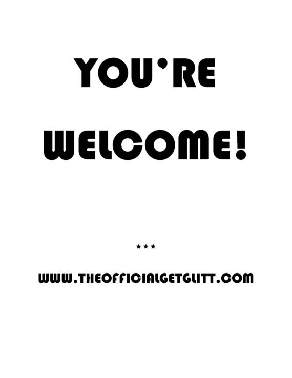 You're Welcome Glitter Bomb Letter Prank Joke