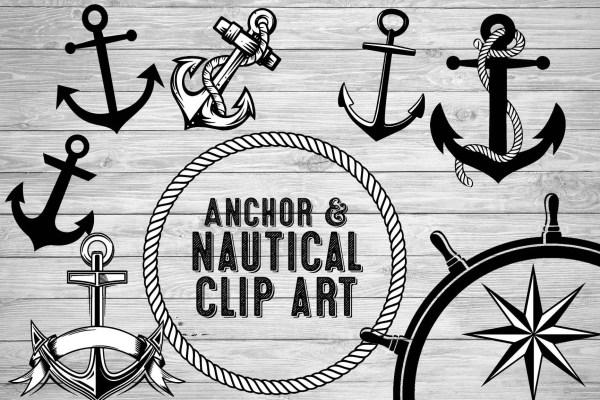 anchor clip art black