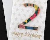 Second birthday card, num...