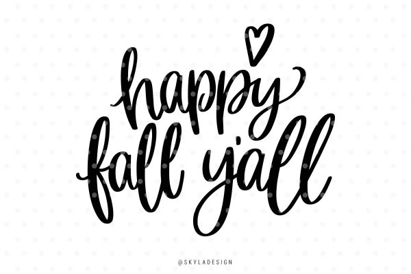 happy fall yall svg files clipart