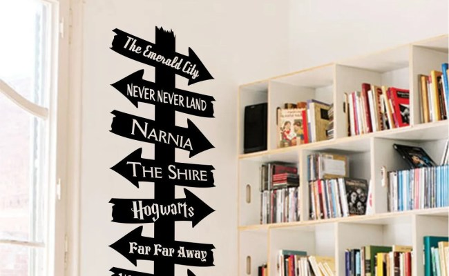 Library Storybook Destination Sign Vinyl Wall Art Decal For