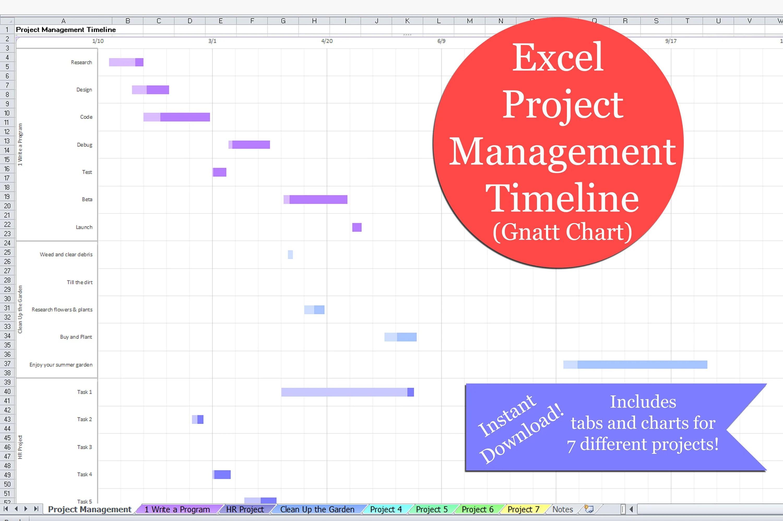 Excel Project Management Timeline Excel Gantt Chart