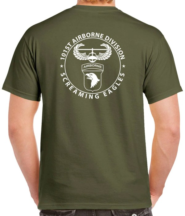 101st Airborne T-shirt 2 Sided Tee Paratrooper 1112-2