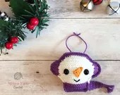 Snowman Ornament Crochet ...