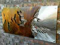 Odin Odins Raven Viking Wall Art Metal Raven Tribal