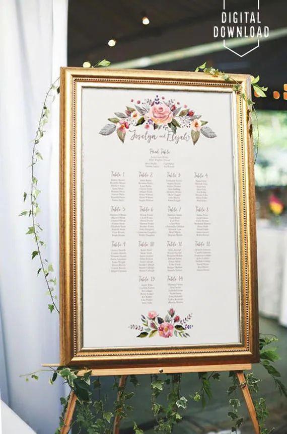 weddings seating plan